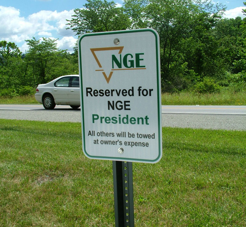 NGE, Parking Signs, Parking, Signs, Traffic Signs, Parking Lot Signs, Reserved Space Signs, Aluminum Signs, Sign pole