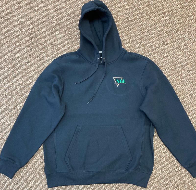 NGE, NGE Hoodie, Hoodie, Hooded sweatshirt, sweatshirt, Business sweatshirt, company sweatshirt, custom hoodie
