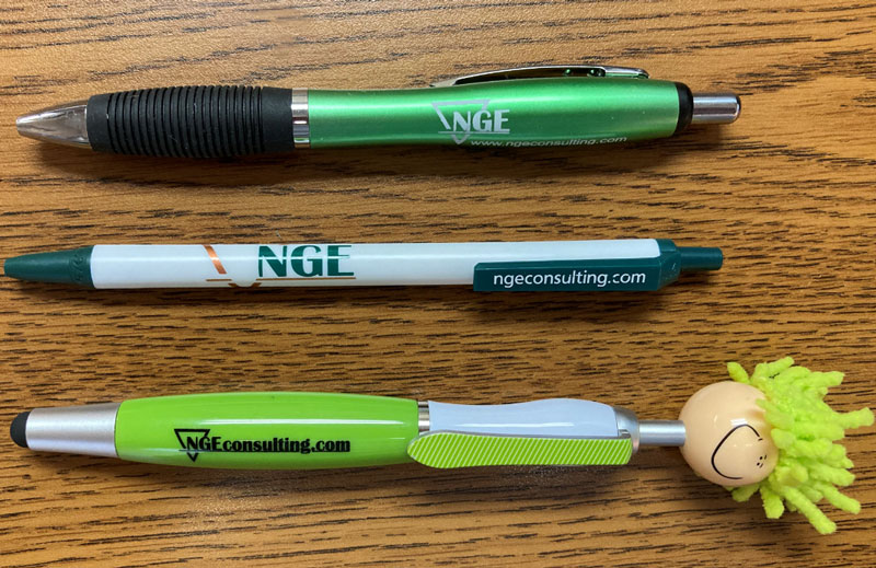 Pens, NGE, Branded pen, logo pen, printed prens, promotional products, promotional gifts, trade show giveaway