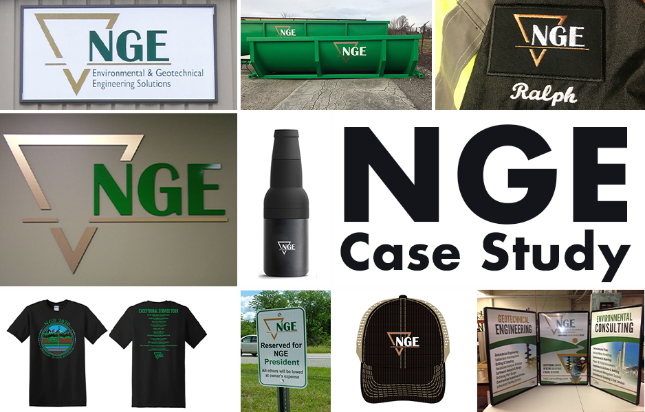 NGE, Exterior Sign, Business Sign, Custom Sign, Custom Business Sign, Pittsburgh Business Sign, Pittsburgh Business, Building Signs, Building Sign